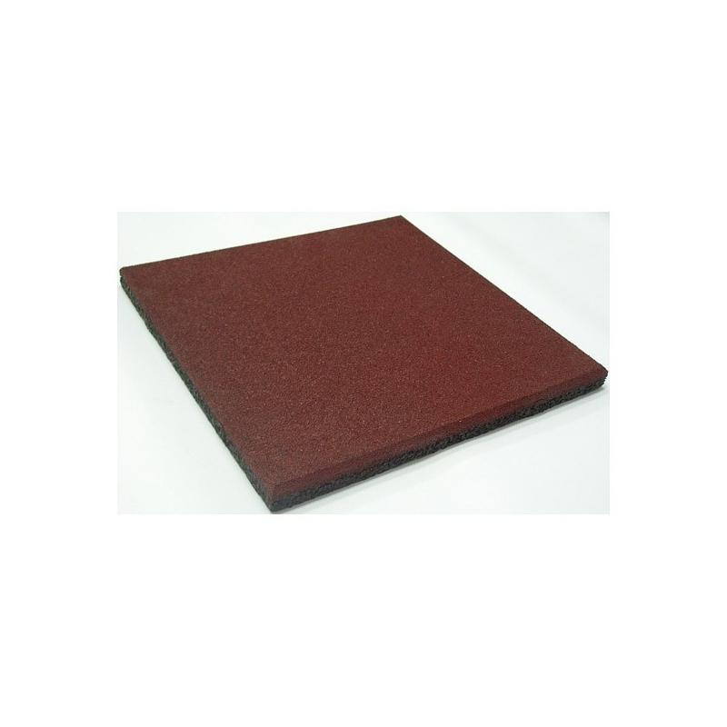 Loseta de Caucho Reciclado - Roja 50x50x4
