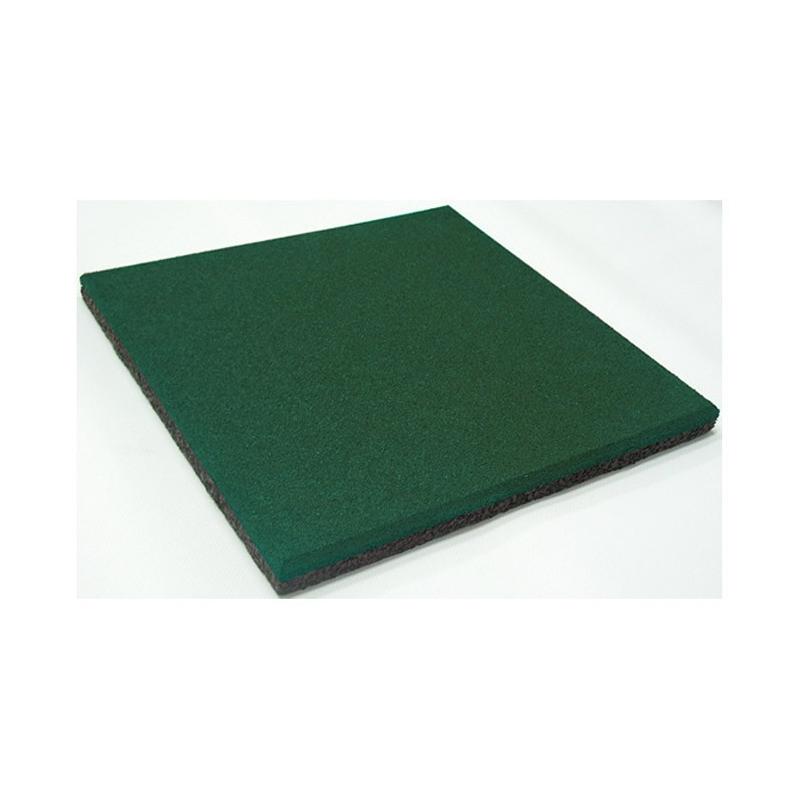 Loseta de Caucho Reciclado - Verde 50x50x4