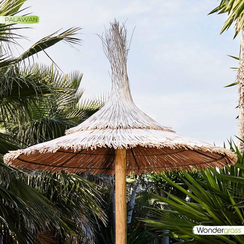 Sombrilla de mimbre pelado Palawan