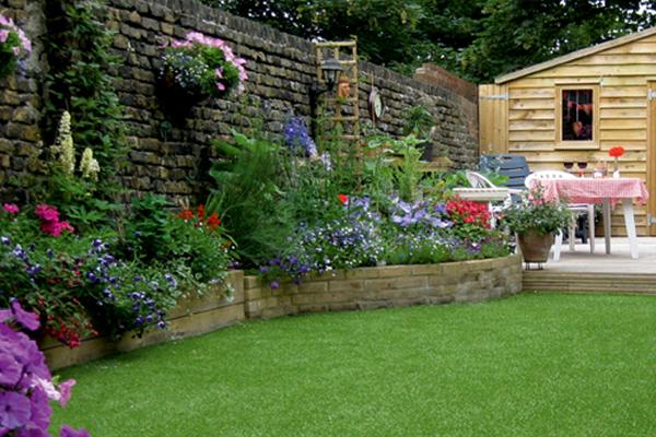 C sped artificial para jardines y patios for Jardines con cesped