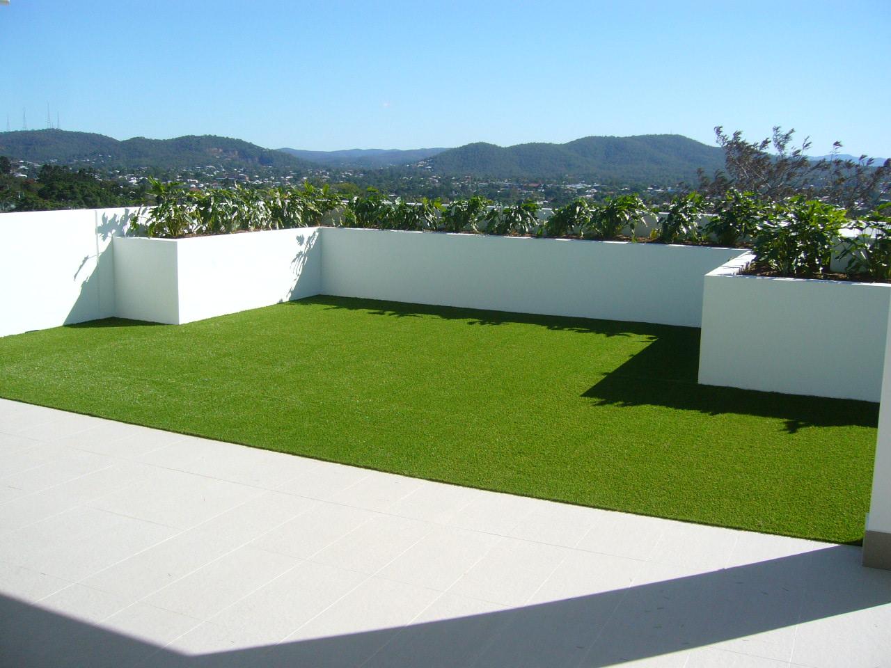 césped artificial en ático y terraza