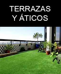 terrazas y áticos con césped artificial